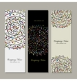 Banners collection floral mandala design vector image vector image