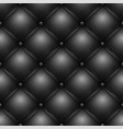 black buttoned leather upholstery pattern texture vector image