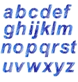 Blue Alphabet Isolated vector image
