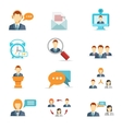 Business communication and web conference icons vector image