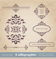 calligraphic elements for design and decoration vector image