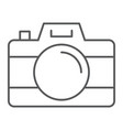 camera thin line icon travel and tourism photo vector image vector image