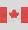 canada flag in retro style frayed vector image