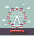 carnival ferris wheel vector image vector image