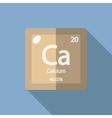 Chemical element Calcium Flat vector image vector image