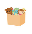 children toy box children toy box vector image vector image