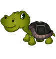 cute turtle cartoon vector image