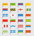 Different color flags set vector image vector image