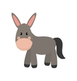 Donkey icon cute animal design graphic vector image