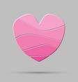 element pink heart pieces puzzle symbol love vector image