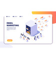 email marketing isometric concept mail automation vector image vector image