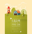 farm landscape texture style concept vector image