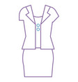 female casual clothes icon vector image vector image