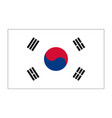 flag of republic korea vector image vector image