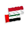 flags indonesia and united arab emirates