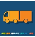 Flat design truck vector image