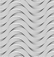 Flat gray with slim hatched ripples vector image
