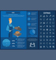 food infographic template elements and icons vector image