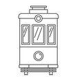 front view tram icon outline style vector image