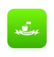 healthy food icon green vector image vector image