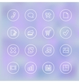 Iconset for mobile app UI transparent clear vector image