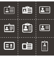 id card icons set vector image