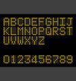 led display alphabhet a to z and number flat vector image