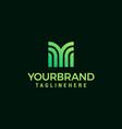 letter m logo design template vector image vector image