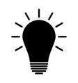 light bulb icon idea sign solution thinking vector image vector image