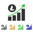 litecoin growing trend icon vector image vector image