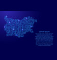 map bulgaria from printed board chip and radio vector image vector image