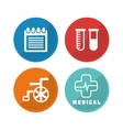 Medical and healthy lifestyle design vector image