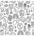 medical organs and joints line seamless pattern vector image vector image