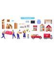 moving and relocation set cartoon vector image
