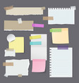 paper stickers or sticky note yellow memo vector image