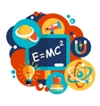 Physics science flat design vector image vector image