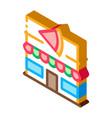 pizza restaurant isometric icon vector image vector image