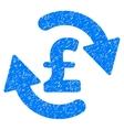 Refresh Pound Balance Grainy Texture Icon vector image vector image