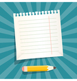 Retro Empty White Paper Sheet with Pencil