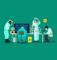 scientists are working with bio hazardous vector image vector image