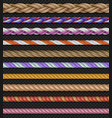 seamless straight ropes and strings vector image vector image