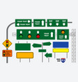 set of road sign or traffic light vector image vector image