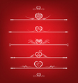 Set Valentines Day Design Elements vector image