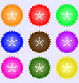 snow icon sign Big set of colorful diverse vector image vector image