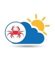 summer vacation design crab sea life vector image
