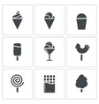 Sweets and ice cream icon set vector image vector image