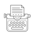 typewriter line icon vector image