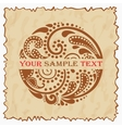 Vintage emblem with a beautiful leaf pattern eps10 vector image vector image