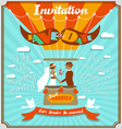 Vintage wedding invitation 5 vector image