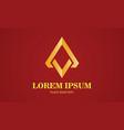 gold triangle shape logo vector image